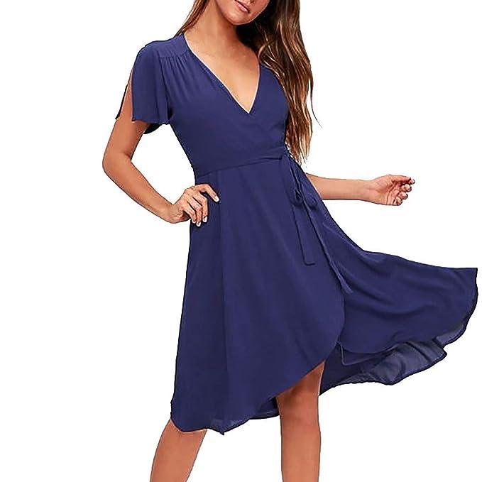 Women S Sleeveless Ruffled Sling Midi Dresses Amydong V