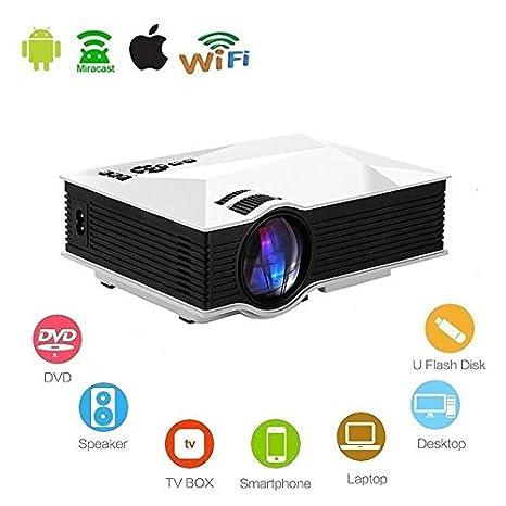 Amazon.com: Mengshen LCD Mini 1200 lúmenes del proyector ...