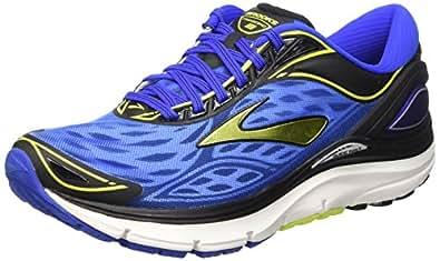 Brooks Men's Transcend 3 Electric Blue/Lime Punch/Black Sneaker 15 D (M)