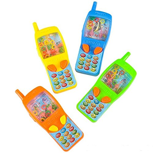 "Price comparison product image Handheld Water Ring Games - 4"" Cellphone 12 Pack - Party Favors, Prizes, Sensory Activities, Stocking Stuffers"
