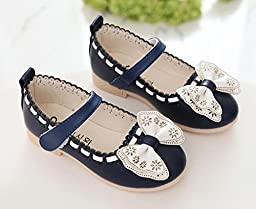 Toddler/Little Kid Girls Bowknot Princess Shoes Lovely Flower Flats Mary Jane