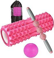 Happyee フォームローラー 筋膜リリース ローラー 4点セット 収納袋付き ヨガポール ストレッチローラー ダイエット器具 トレーニング 腰痛・肩コリ・筋肉痛・ストレス解消