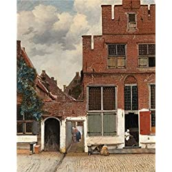Perfect Effect Canvas ,the Beautiful Art Decorative Prints On Canvas Of Oil Painting 'Johannes Vermeer-The Little Street,1657-1658', 8x10 Inch / 20x25 Cm Is Best For Laundry Room Gallery Art And Home Gallery Art And Gifts