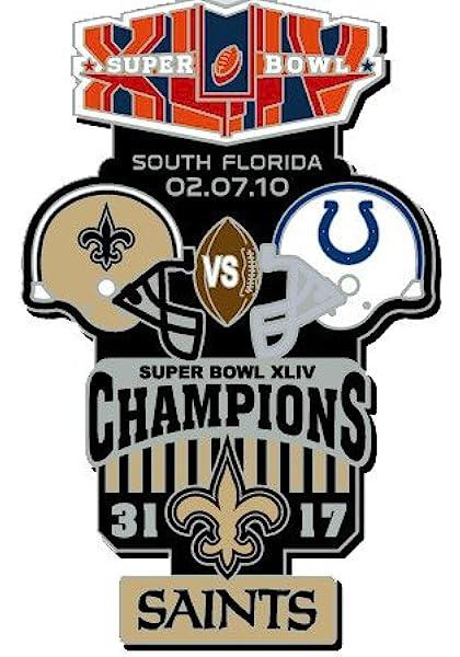 Shipping Begins 12//15 Football Saints Tom Benson Memorial PIN Commemorative PIN Superbowl Champ Patch STYLEPRE Order Item