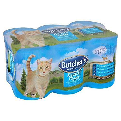 Butcher's Cat Really Fishy Chunks In Jelly 6 x 400g (PACK OF 4)