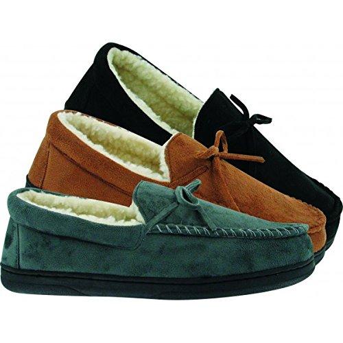 Barry Chaussons - TITAN - mocassin velours homme fourré - gris-46   Amazon.fr  Chaussures et Sacs b22c7813bec6