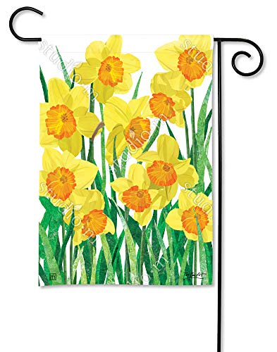 BreezeArt Studio M Daffodils in Bloom Decorative Garden Flag - Premium Quality, 12.5 x 18 Inches