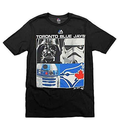 Toronto Blue Shirts - Majestic MLB Boys Youth Star Wars Main Character T-Shirt, Toronto Blue Jays, Medium (10-12)