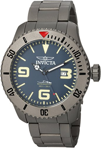 Invicta Men's 'Pro Diver' Automatic Titanium Diving Watch, Color:Silver-Toned (Model: 23127) Watch Pro Wind Meter
