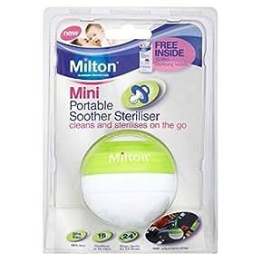 Amazon.com: Milton Mini portátil Chupete esterilizador: Baby