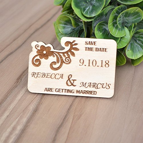 SAVE the DATE MAGNETS // Wedding Save the Date Magnets - Wood Save the Date - Rustic Save the Date Magnets - Fridge Magnets Save the Date
