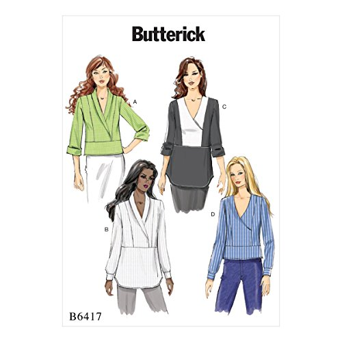 McCall Pattern B6417-A50 6-8-10-12-14 Misses' Surplice Top with Back Yokes -