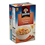 Instant Quaker Oats Peaches and Cream Oatmeal, 6 Count