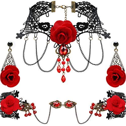 WILLBOND Lace Choker Beads...