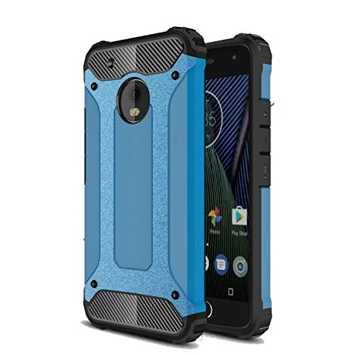 Price comparison product image Moto G5 Plus Case,DAMONDY [Phantom Armor] 360 Degree Power Ful Slim Rugged Design Dual Layer Heavy Duty Hybrid Protection for Motorola Moto G5 Plus -blue