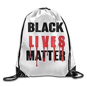 AGOGO Black Lives Matter BLM Drawstring Backpack Bag