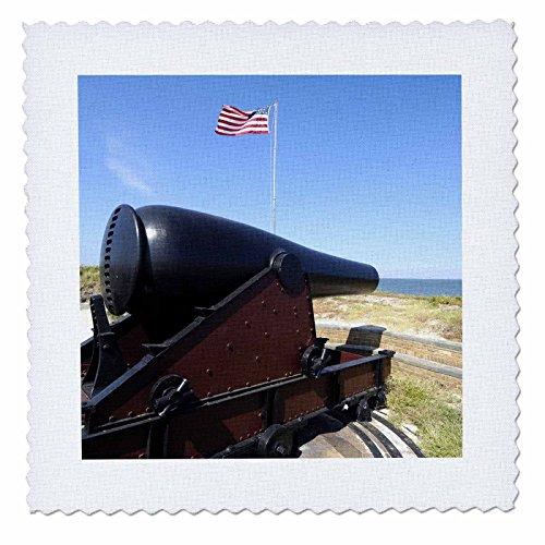 3dRose qs_91482_1 Fort Massachusetts, Civil War Site, Mississippi-Us25 Fvi0019-Franklin Viola-Quilt Square, 10 by 10-Inch