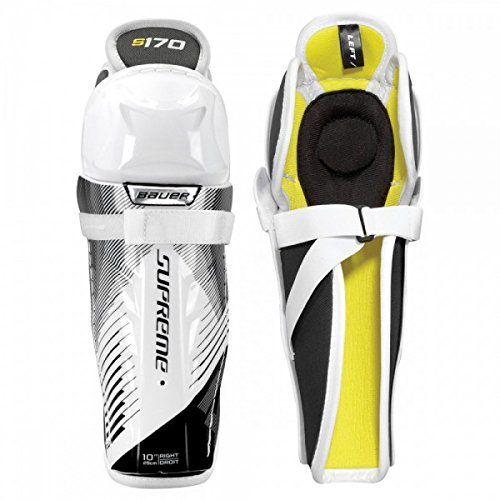 Youth Ice Hockey Shin Guards (Bauer Supreme S170 Youth Hockey Shin Guards Size 10)
