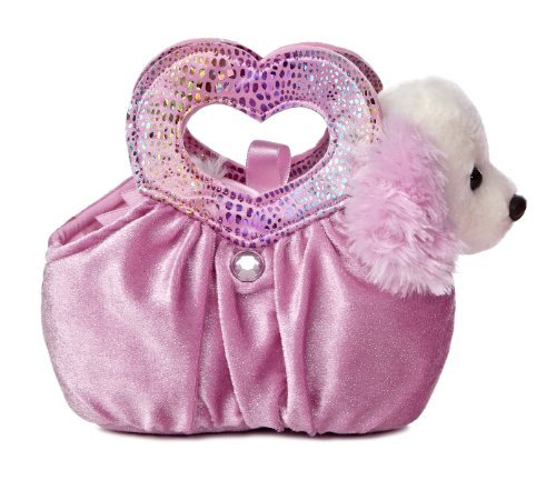 Aurora World Fancy Pals Plush Toy Pet Carrier, Pastel Pink Heartfelt - Pastel Pals