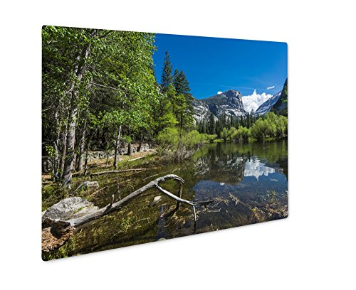 Ashley Giclee Metal Panel Print, Half Dome Reflecting In A Mirror Lake (Mirror Lake Yosemite National Park)