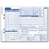 Adams Garage Repair Order Forms, 8.5 x 11.44 Inches, 3 Part, 50 Sets, White and Canary, (GT3810)