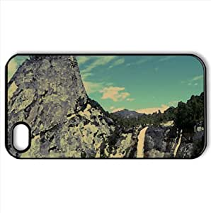 Mountain Waterfalls Watercolor style Cover iPhone 4 and 4S Case (Mountains Watercolor style Cover iPhone 4 and 4S Case)