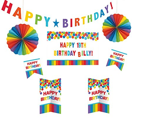 Customizable Room Decorating Kit   Rainbow Collection   Birthday