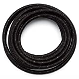 SUNROAD 6AN 10 Ft Universal Premium Braided Stainless Steel Fuel Line Filler Feed Hose Ends Kit,Blue & Black