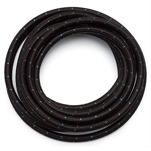 6AN 10 Ft Universal Premium Braided Stainless Steel Fuel Line Filler Feed Hose Ends Kit,Blue & Black