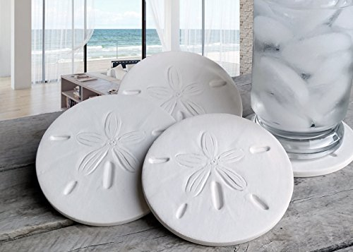 - Drink Coasters, Sand Dollar Coasters, Absorbent Coasters, Beach House, Nautical Decor, Home Decor, McCarter Coasters