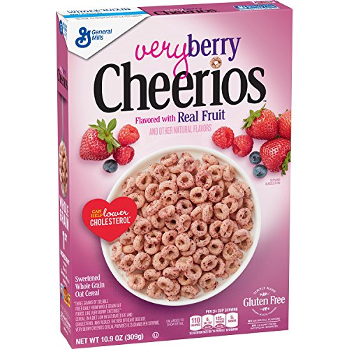 - Very Berry Cheerios, Gluten Free, Breakfast Cereal, 10.9 oz