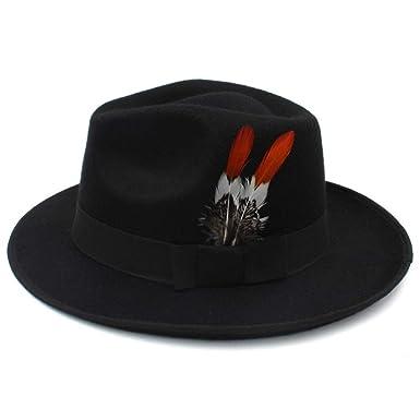 XHD-caps Wool Men s Hat British Gentleman Fashion Influx High-end Top Hat  Fedora 95f6f0a7196