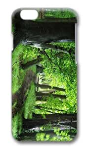 MOKSHOP Adorable green forest path Hard Case Protective Shell Cell Phone Cover For Apple Iphone 6 (4.7 Inch) - PC 3D