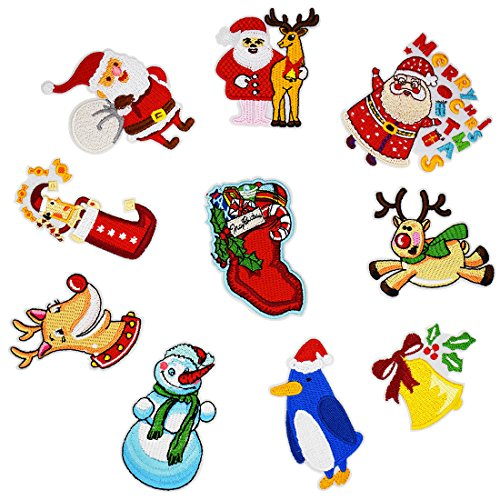 Pin Up Costume Diy (QTL Christmas Embroidery Patches for DIY Clothing and Home Decoration (10PCS/Set))
