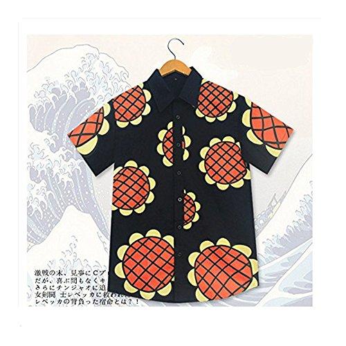 (Mxnpolar One Piece Monkey D Luffy Cosplay New World Sunflowers T-shirt Costume)
