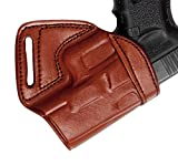 Tagua MBH-1012 Middle Back Holster, S&W SHIELD 9mm&40mm, Brown, Right Hand