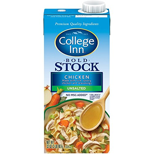 College Inn, Bold Stock Unsalted Chicken in Aseptic Carton, 32-Ounce (Pack of 12)
