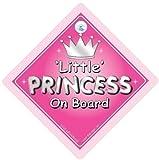 Little Princess On Board' Schild, Silber Text, Auto Stoßstangenaufkleber, Baby Board, Verkehrszeichen, Kfz-schild, Fahrzeug Prinzessin Board Aufkleber, Schild