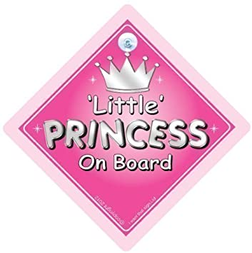 Handmade Non Personalised Daddy/'s Princess ~ Baby on Board Car Sign