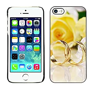 """For Apple iPhone 5 / 5S , S-type Un par de anillos de oro"""" - Arte & diseño plástico duro Fundas Cover Cubre Hard Case Cover"""