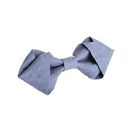 YYB-Tie Corbata Moda Corbata de Lazo Azul para Hombres, Estilo ...