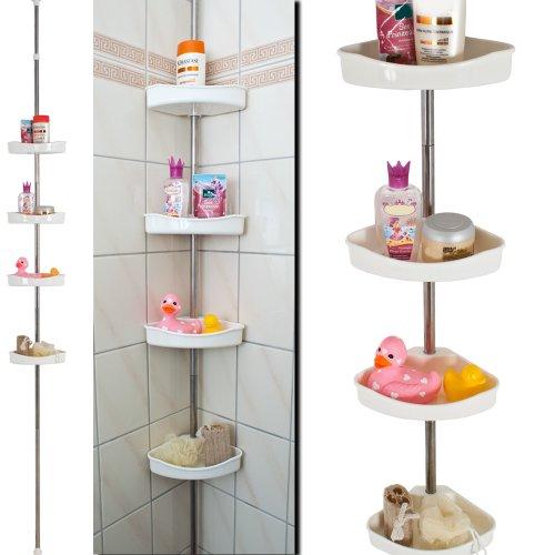 Tectake estanter a para ducha vertical porta accesorios for Estanteria vertical