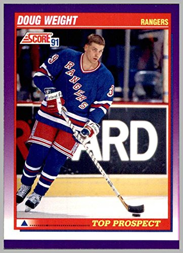 1991-92 Score American #396 Doug Weight RC Rookie NEW YORK RANGERS Top Prospect currently Head Coach NEW YORK - Usa Coach Stock