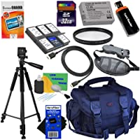 12pc Bundle 32GB Accessory Kit w/LP-E8 Battery Pack + HeroFiber Ultra Gentle Cleaning Cloth for Canon EOS Rebel T2i, T3i, T4i & T5i (550D, 600D, 650D & 700D) Digital SLR Cameras