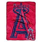 MLB Los Angeles Angels Triple Play Micro Raschel Throw Blanket, 46x60-Inch