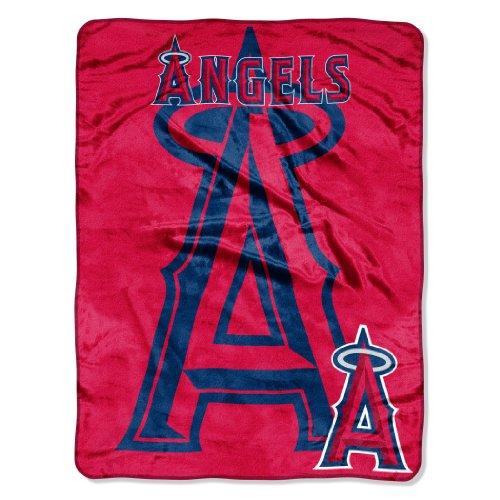 The Northwest Company MLB Los Angeles Angels Triple Play Micro Raschel Throw Blanket, 46x60-Inch