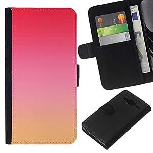 Leather Etui en cuir || Samsung Galaxy Core Prime || rosa roja cielo amarillo naturaleza puesta de sol @XPTECH