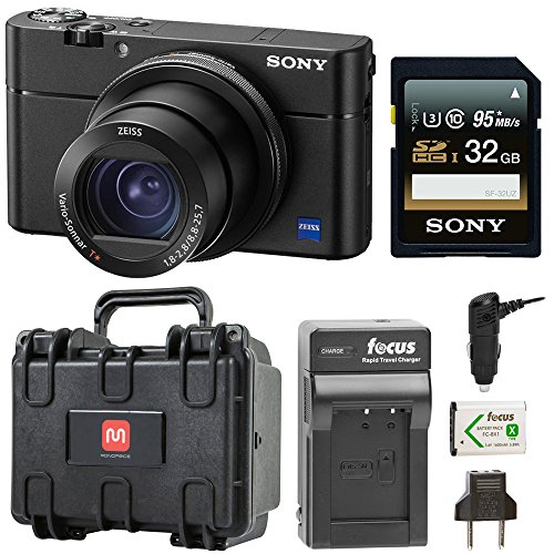 Sony Cyber-Shot RX100 V 20.1 MP Digital Camera w/Hardcase & 32GB SD Card Bundle
