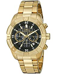 Invicta Mens 21470 Specialty Analog Display Japanese Quartz Gold-Plated Watch