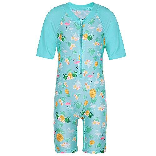 TFJH E Toddler Girls Surfing Swimming Custumes 1pcs Bathing Suit Beachwear UPF 50+ Cyan,Pineapple 104/110 -
